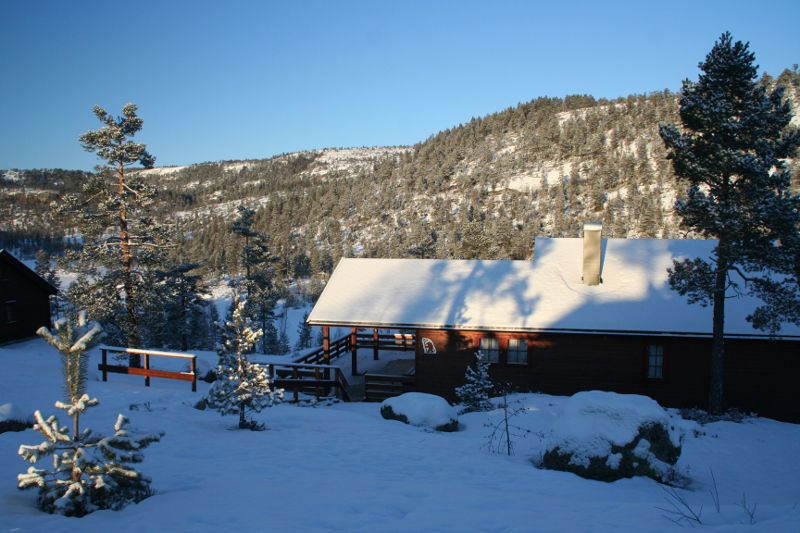 de chalet in de winter